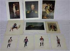 Collection of Military Prints  Portraits
