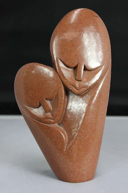 African Tribal Style Statue Signed Tonde Kalsande