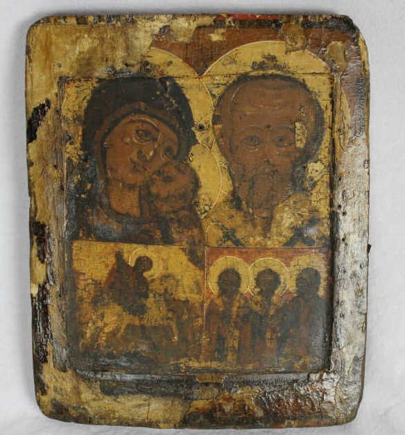 Early Russian Icon Painting on Board