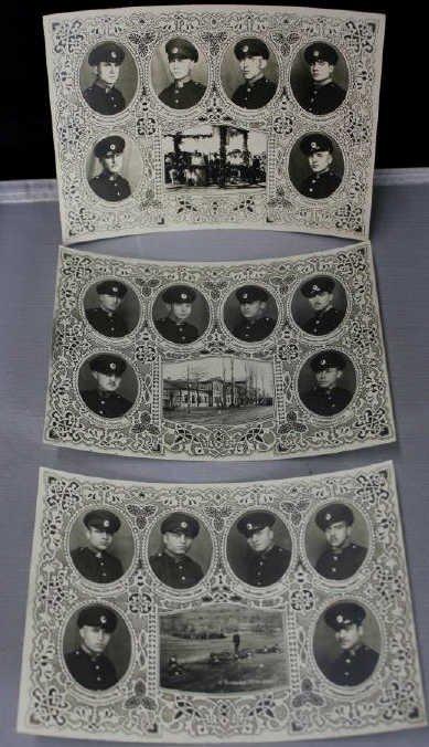 Antique Russian Military Army Portrait Photographs