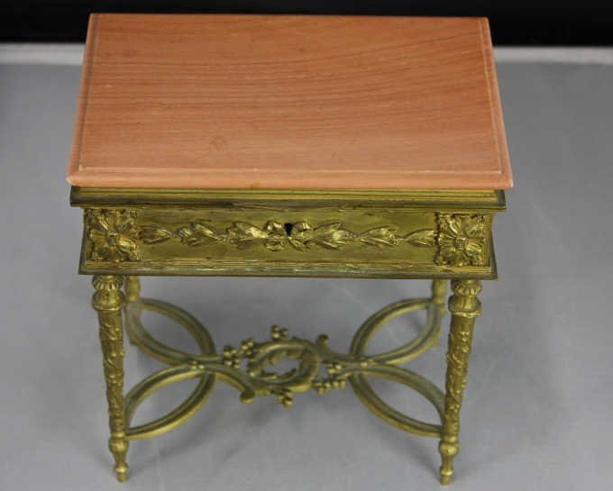 Antique French Gilt Bronze Ormolu Figural Box