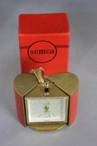 Vintage Semca Seven Jewels Travel Clock