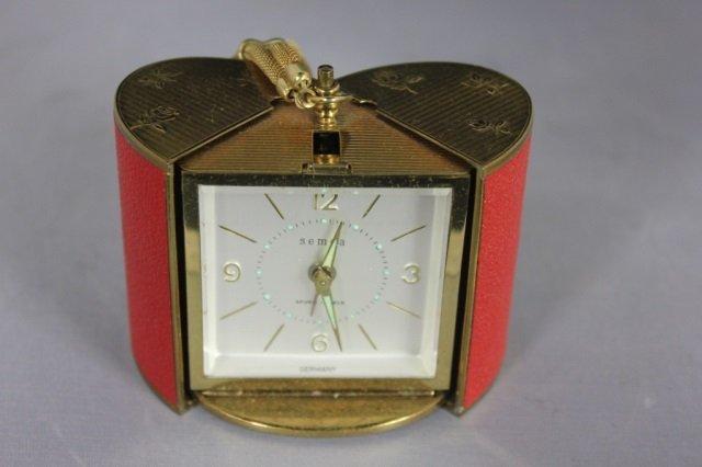 Vintage Semca Seven Jewels Travel Clock - 2