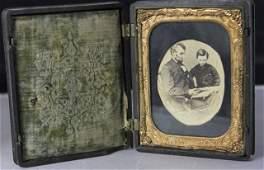 Daguerreotype Union Case w/ Abraham Lincoln Photo