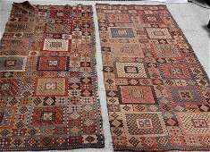 Two Antique Hand Woven Oriental Carpet Runners