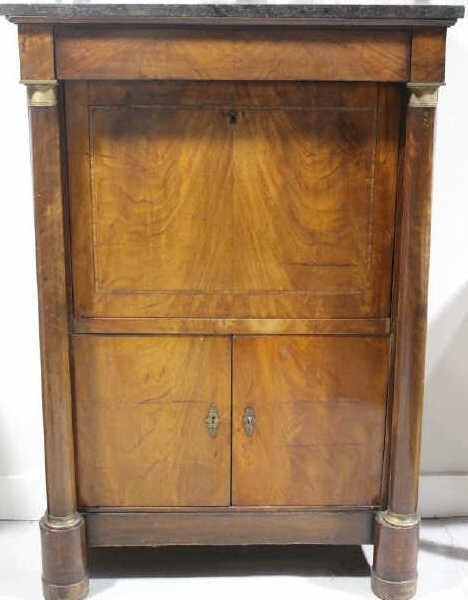 Antique Empire Biedermeier Secretary Desk