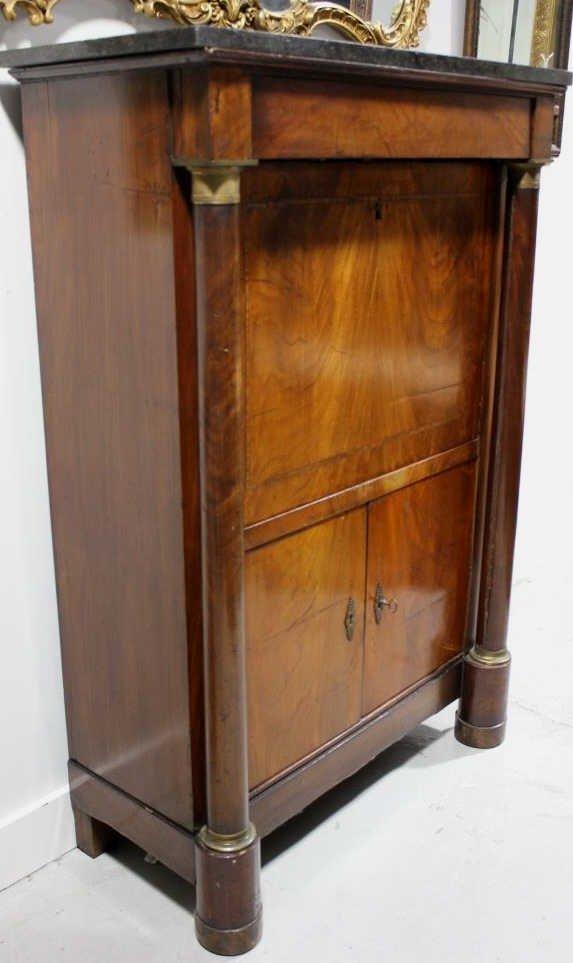 Antique Empire Biedermeier Secretary Desk - 2