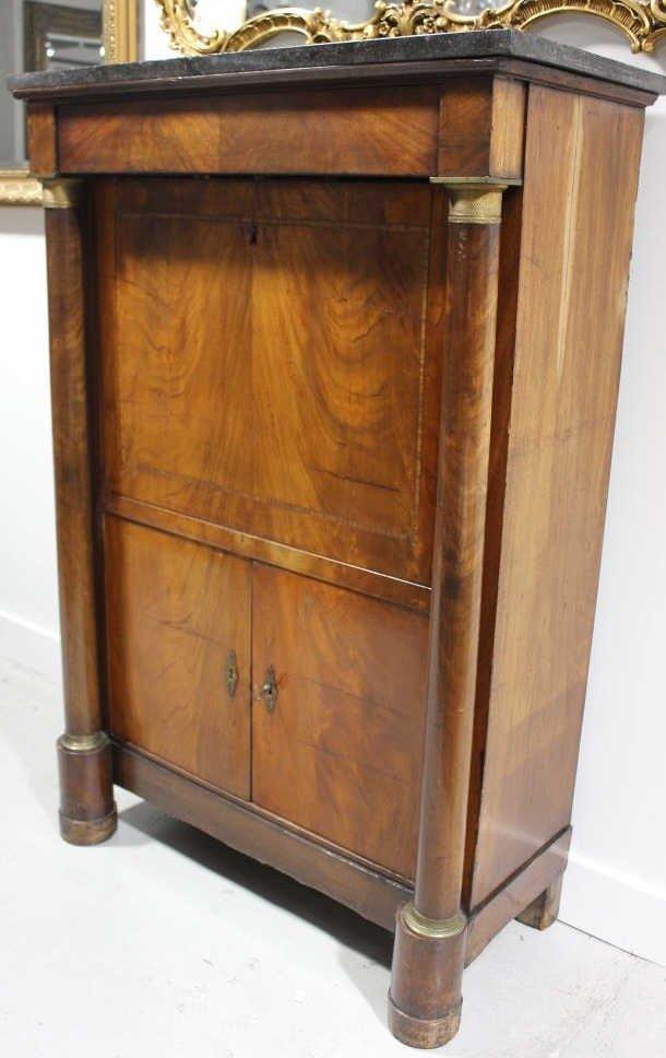 Antique Empire Biedermeier Secretary Desk - 3