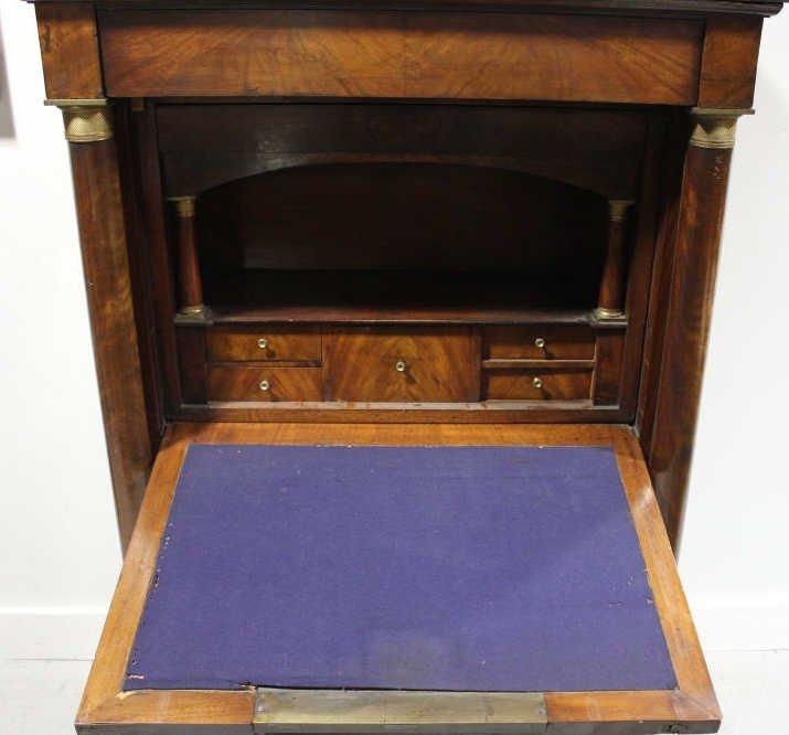 Antique Empire Biedermeier Secretary Desk - 6