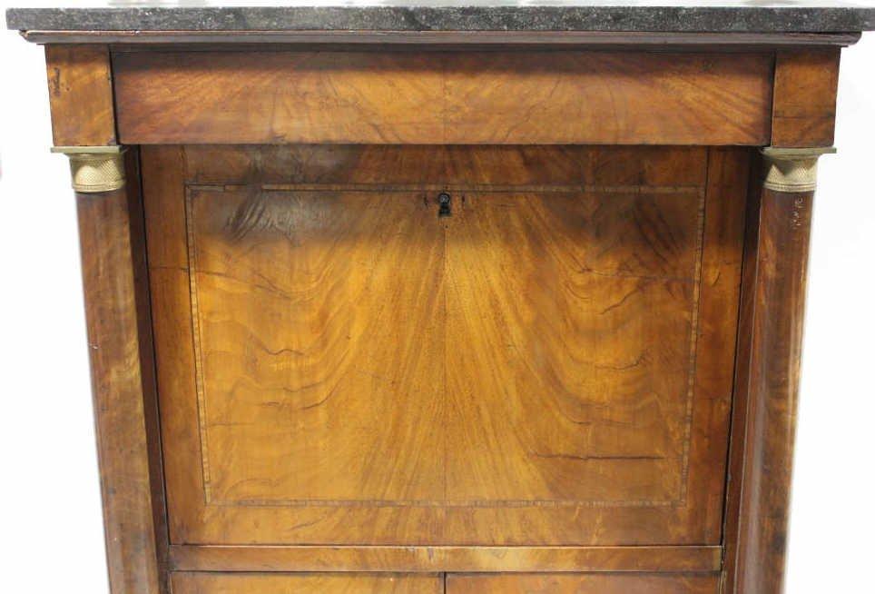 Antique Empire Biedermeier Secretary Desk - 9