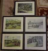 Five Assorted Antique Hunting & Equestrian Prints