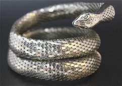 Vintage Whiting & Davis Mesh Snake Bracelet