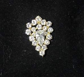 18Kt Gold and Diamond Cluster Pendant