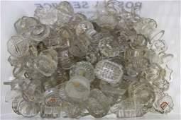 American Pressed Glass Crystal Salt Cellars