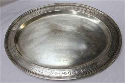 Tiffany & Co. Sterling Silver Memorial Platter