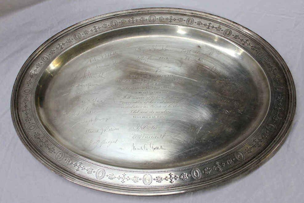 Tiffany & Co. Sterling Silver Memorial Platter