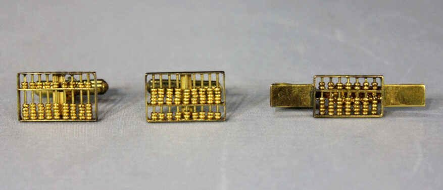Two 18Kt Gold Cufflinks and One 14Kt Gold Pin