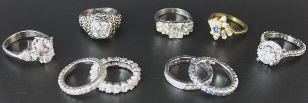 Assorted Costume Jewelry Rings