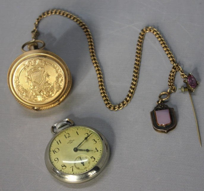Elgin 14kt Gold and E. Ingraham Pocket Watches
