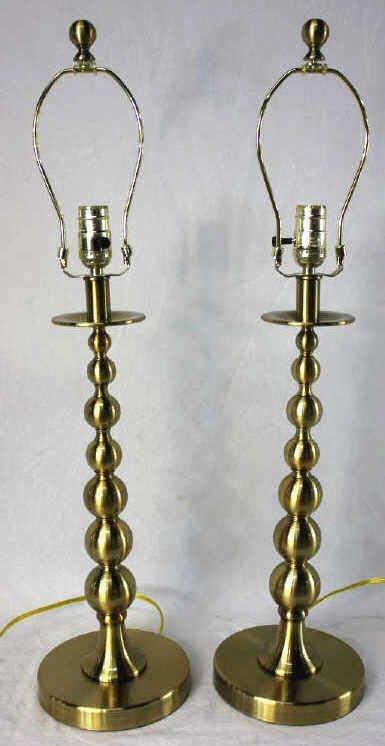 Pair of Ralph Lauren Brass Lamps