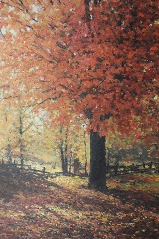 Autumnal Stream Scene Signed Robert Wood 1959 - 3