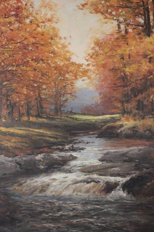 Autumnal Stream Scene Signed Robert Wood 1959 - 4