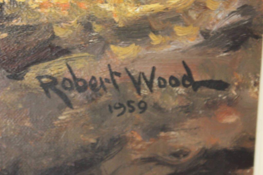 Autumnal Stream Scene Signed Robert Wood 1959 - 5