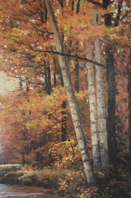 Autumnal Stream Scene Signed Robert Wood 1959 - 6