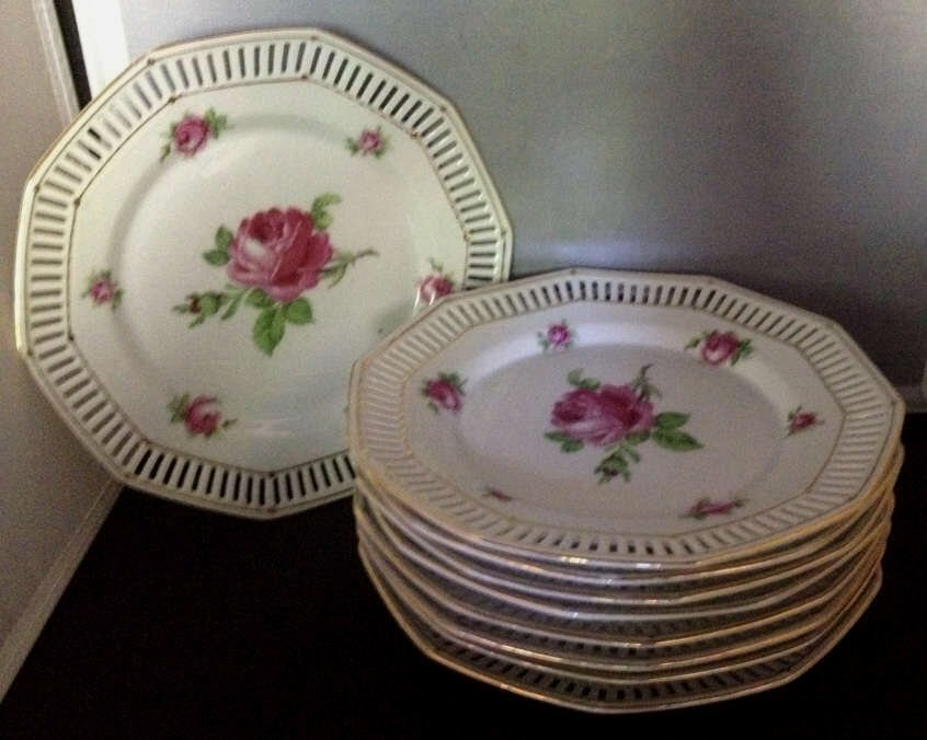 Schumann Bavaria Porcelain Dessert Plates