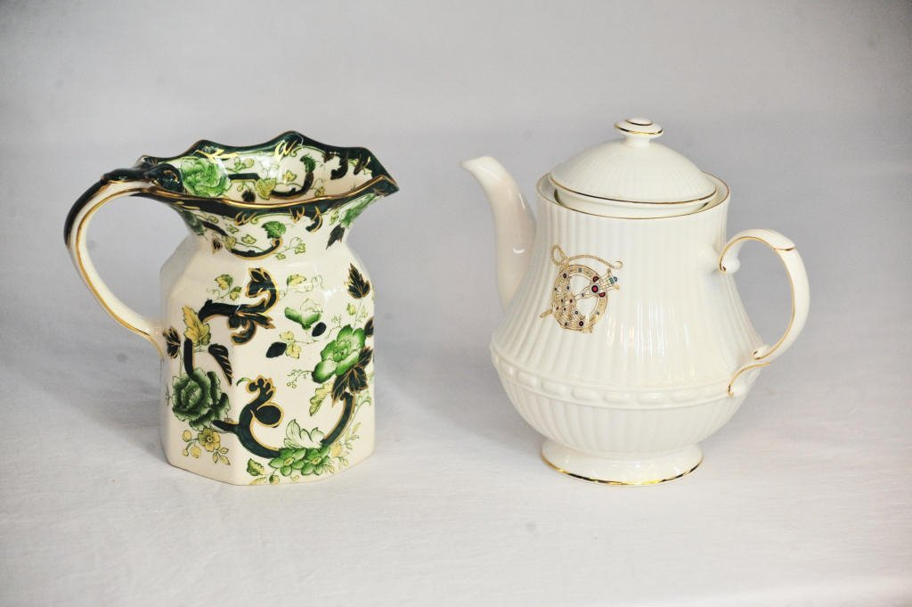 Mason's Pitcher and Royal Tara Irish Teapot