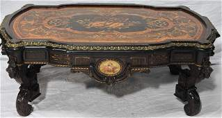 French Inlaid Bronze Mount Decorative Coffee Table