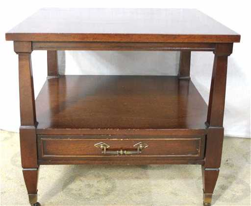 mahogany end table by columbia manufacturing co - Antique Mahogany End Tables