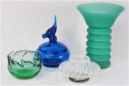 Four Pieces of Decorative Art Glass