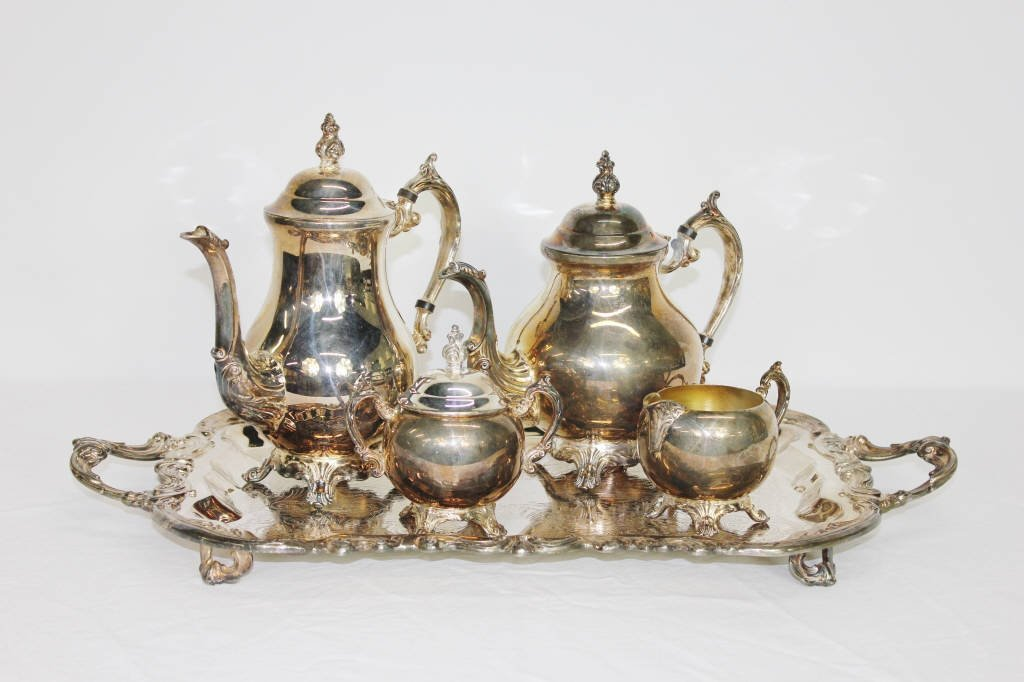 F. B Rogers Silver Co. Tea Set With Tray