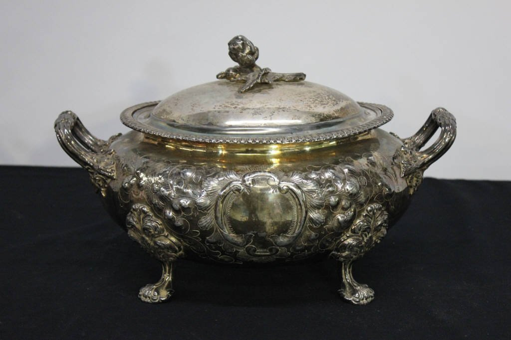 Antique Silver Plate Tureen
