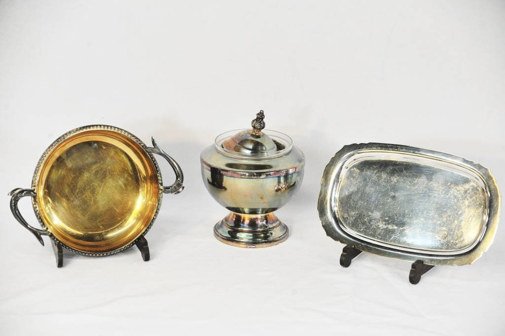 Three Silver Plate Serving Pieces