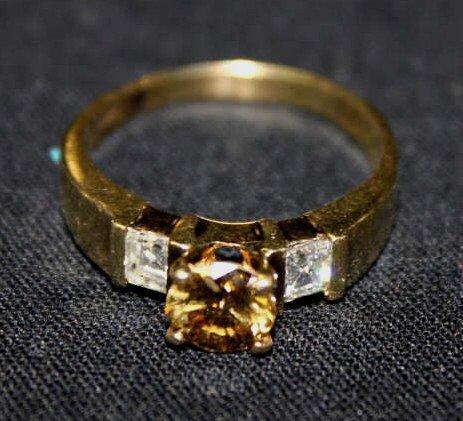 1 Carat Brown Diamond Ring