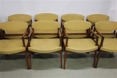 8 Herman Miller Mid-Century Armchairs