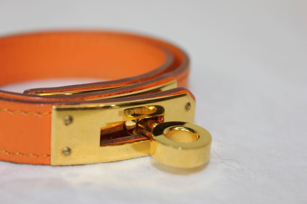 Hermes Kelly Double Tour Wrap  Bracelet
