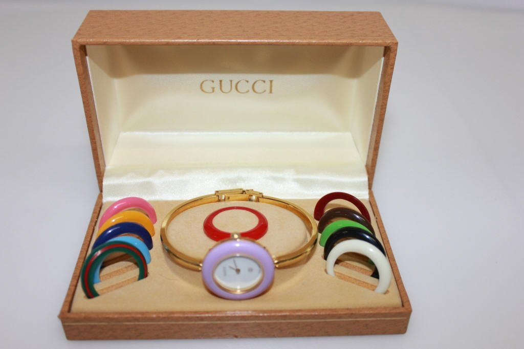 Vintage Gucci Interchangeable Face Bangle Watch