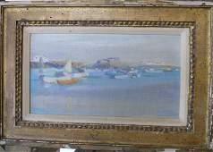 Oil painting Shore Scene Roger Van Damme
