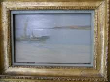 Oil Painting, Shore Scene, Vickers Deville