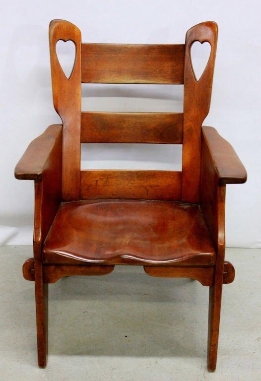 Cushman Creations Heart Back Slipper Chair