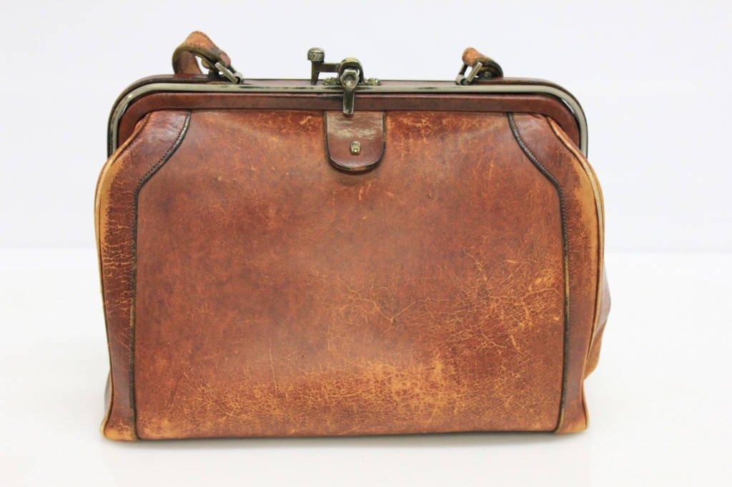 Vintage Etienne Aigner Cognac Leather Doctor Bag