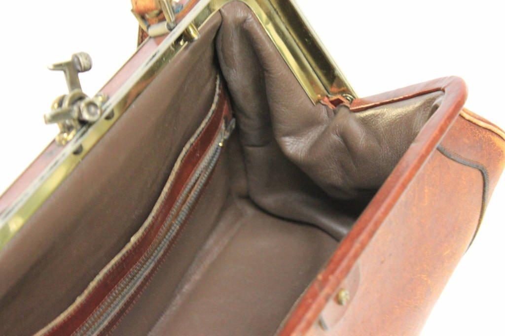 Vintage Etienne Aigner Cognac Leather Doctor Bag - 3