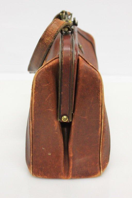 Vintage Etienne Aigner Cognac Leather Doctor Bag - 4