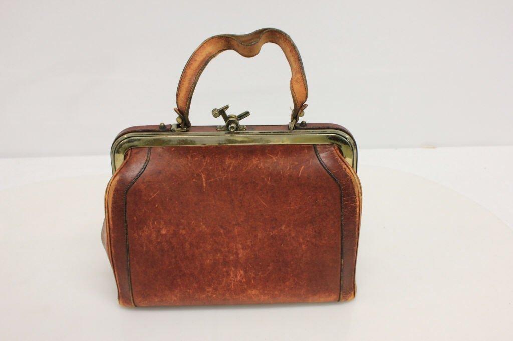 Vintage Etienne Aigner Cognac Leather Doctor Bag - 6