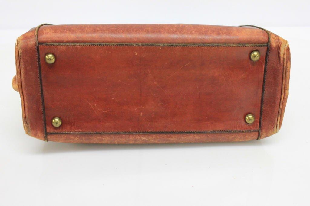 Vintage Etienne Aigner Cognac Leather Doctor Bag - 7