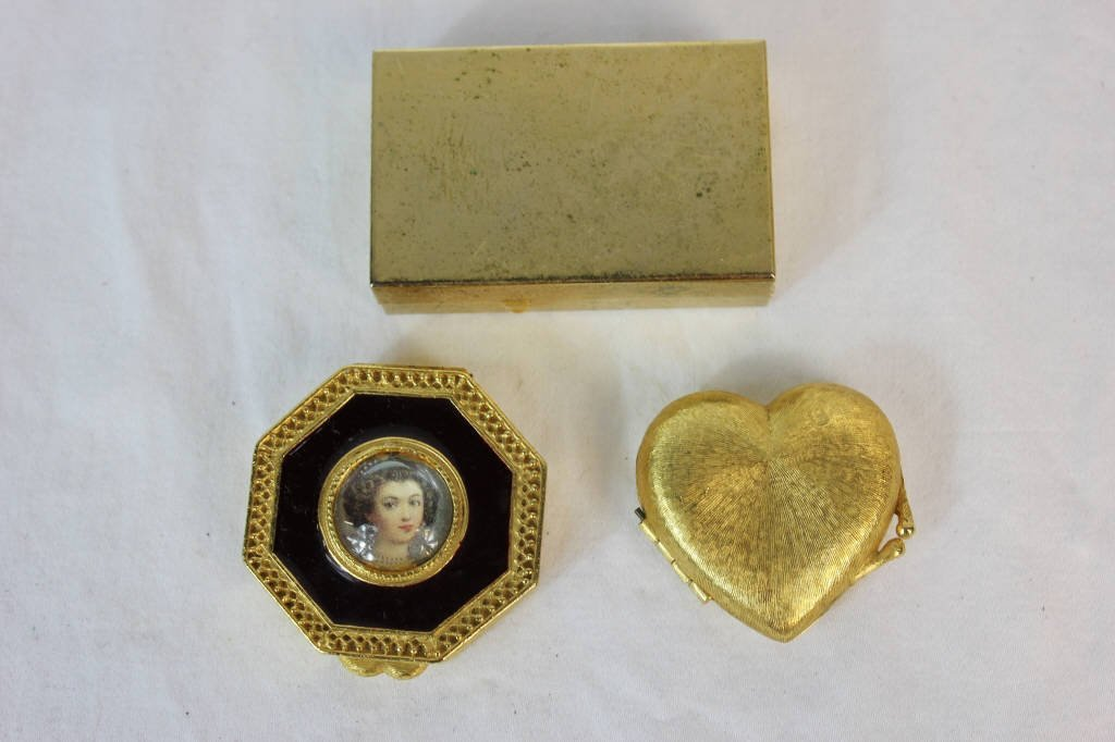 Solid Perfume Compacts & Perfume Miniature w Case - 2