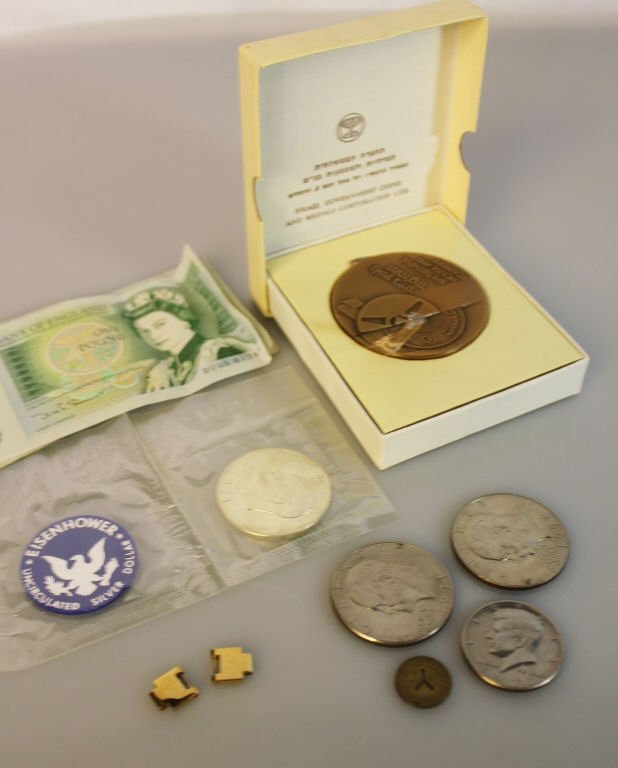 Assorted Lot of Silver Dollars, Pound Notes